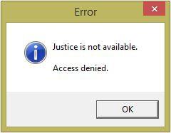 правосъдието го няма - достъпа отказан